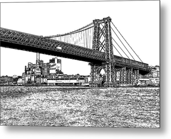 Williamsburg Bridge 1.1 - New York Metal Print