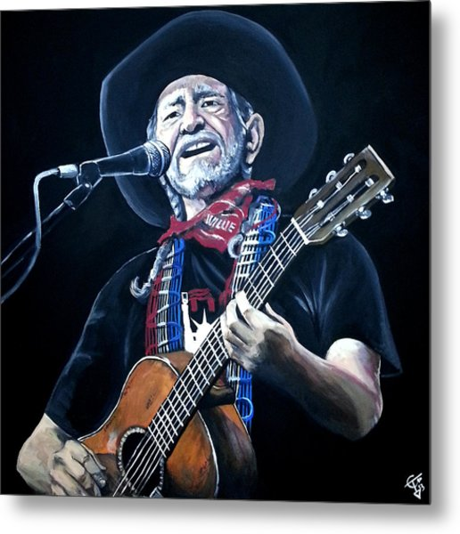 Willie Nelson 2 Metal Print