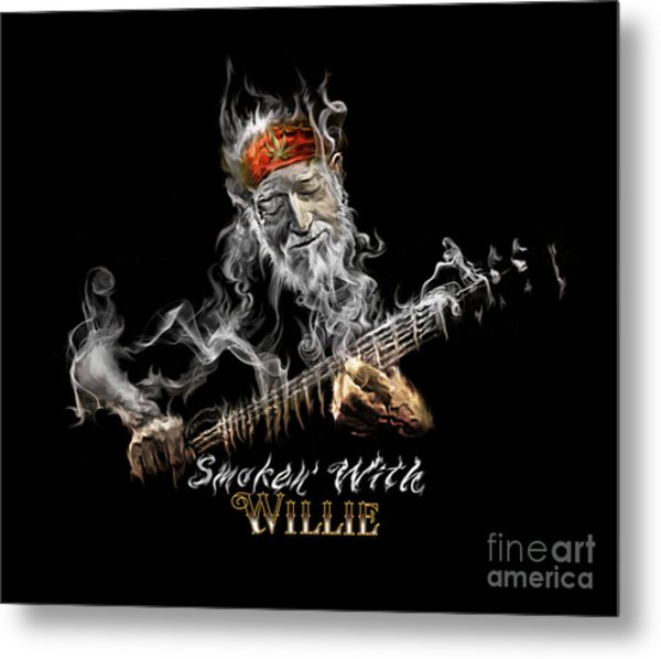 Willie Smoken' Metal Print