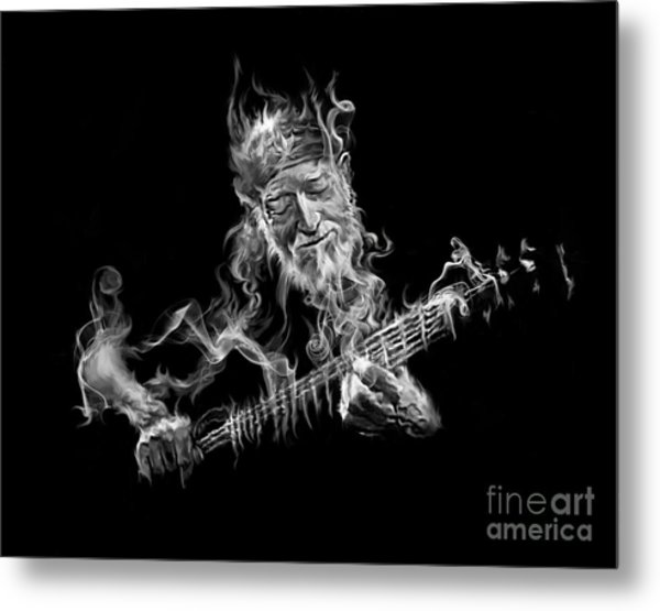 Willie - Up In Smoke Metal Print