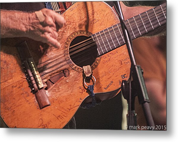 Willie's Guitar Metal Print