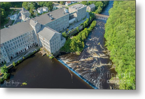 Willimantic River And Mill #2 Metal Print
