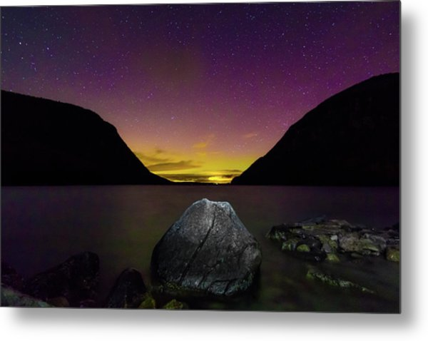 Willoughby Aurora And Boulder Metal Print