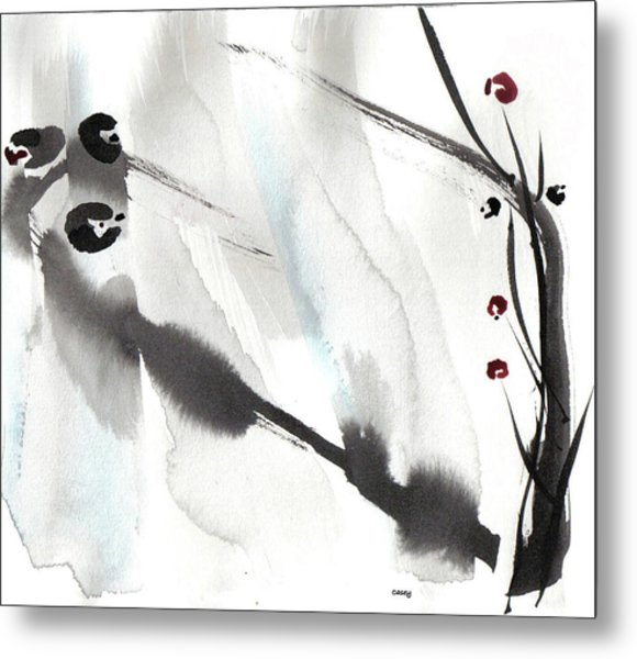 Willow Birds Metal Print