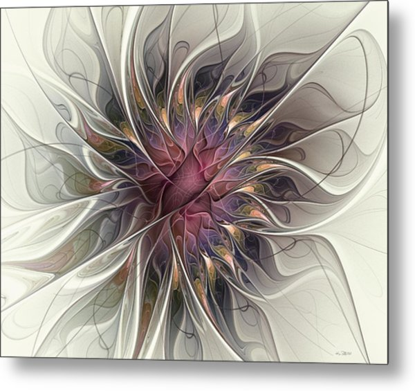 Willowy Mum Metal Print