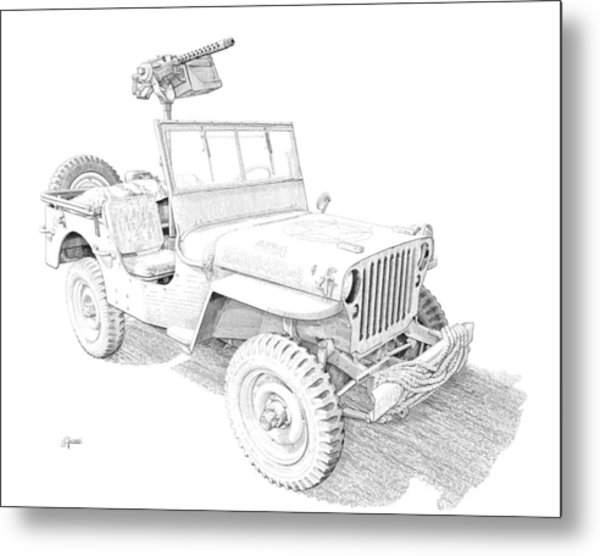 Willy In Ink Metal Print