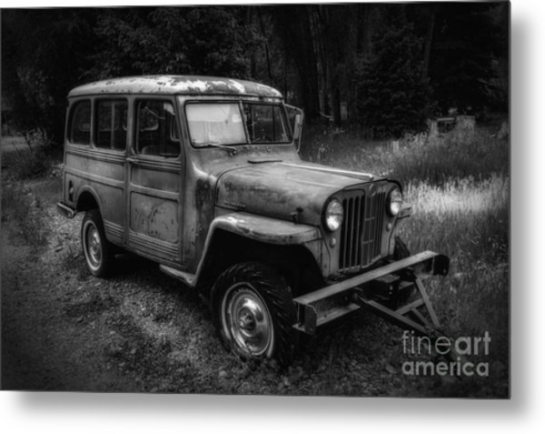 Willys Jeep Station Wagon Metal Print