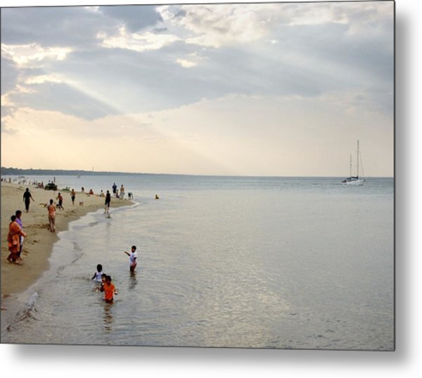 Wilmette Beach Labor Day 2009 Metal Print