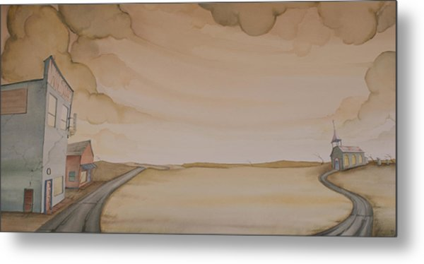 Metal Print featuring the painting Wilson's II by Scott Kirby