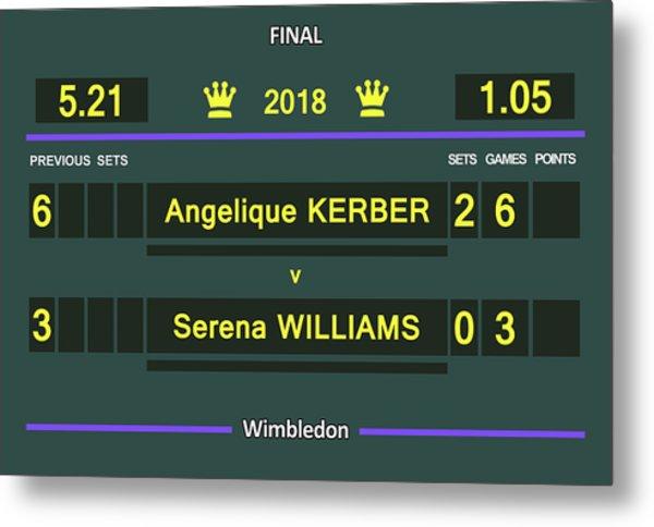 Wimbledon Scoreboard - Customizable - 2017 Muguruza Metal Print