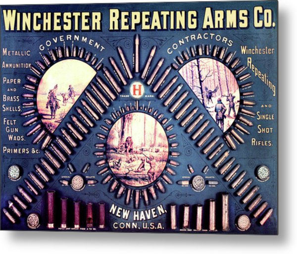 Winchester 1888 Cartridge Board Metal Print