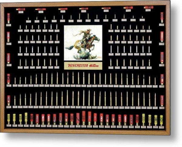 Winchester Ammunition Cartridge Board Metal Print
