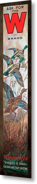 Winchester Bird And Trap Ammo Display Metal Print