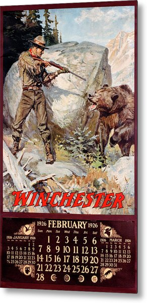 1926 Winchester Repeating Arms And Ammunition Calendar Metal Print