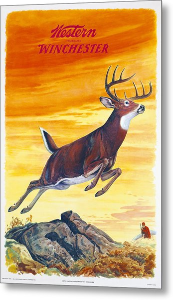 Winchester Western Whitetail Hunter Metal Print