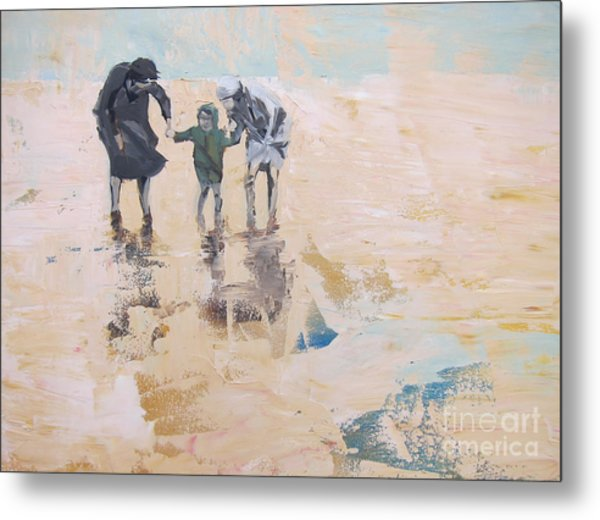 Wind And Kids Metal Print