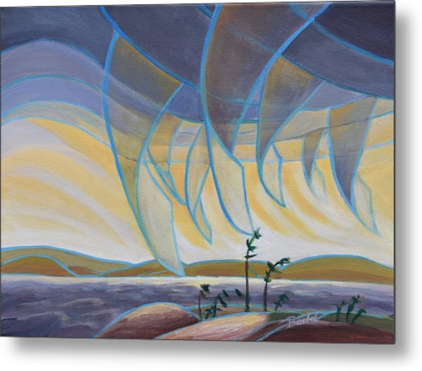 Wind And Rain Metal Print