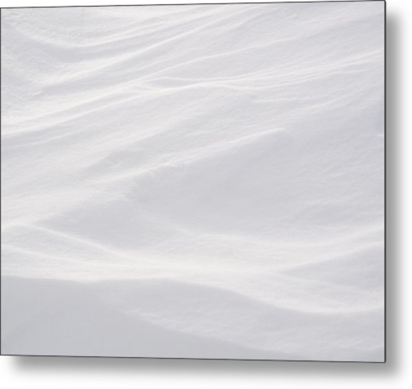 Wind Carved Snow Metal Print