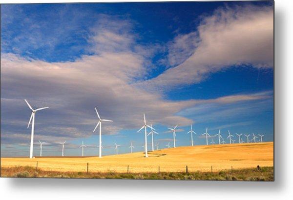 Wind Farm Against The Sky Metal Print