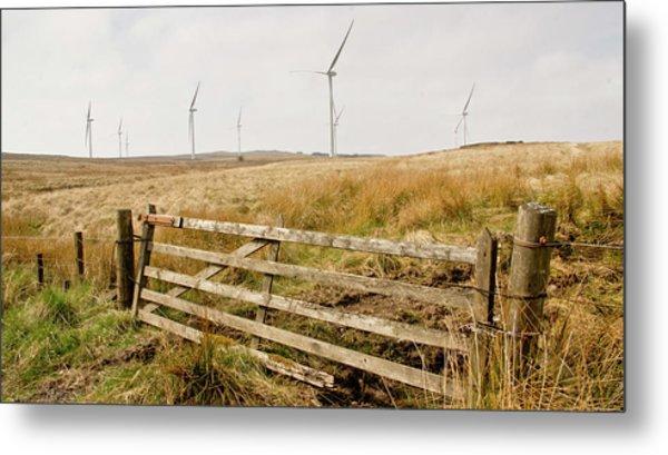 Wind Farm On Miller's Moss. Metal Print