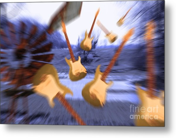 Wind Guitars Metal Print