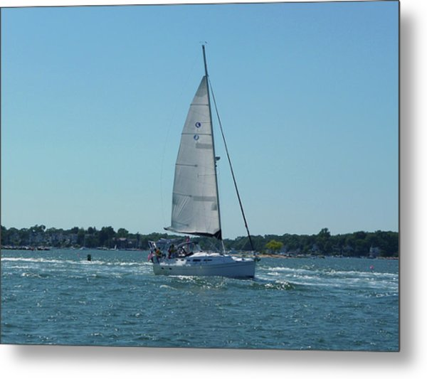 Wind In The Sails Metal Print by Margie Avellino