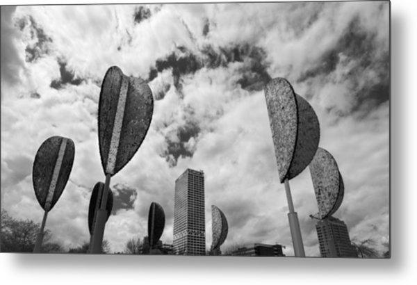 Wind Leaves Metal Print