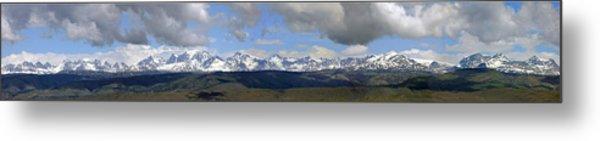 Dm9504-wind River Range Panorama  Metal Print