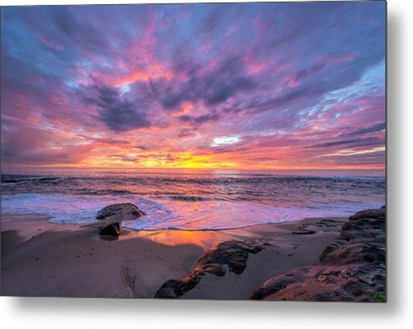 Windansea Beach Sunset Metal Print