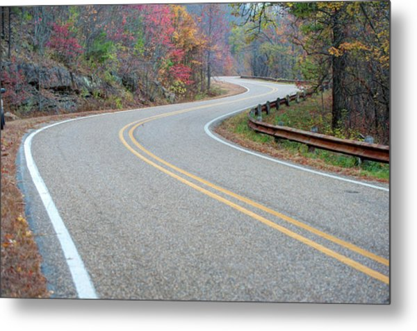 Winding Roads In Autumn Metal Print by Gregory Ballos