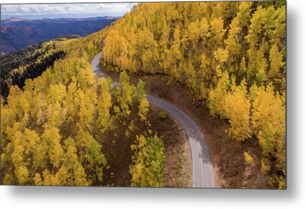 Winding Through Fall Metal Print