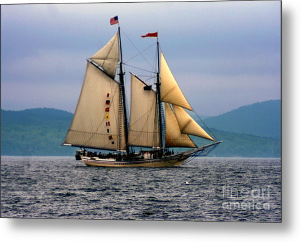 Windjammer Lewis R French Metal Print by Jim Beckwith