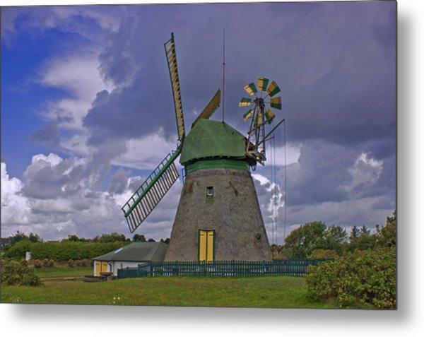 Windmill Amrum Germany Metal Print