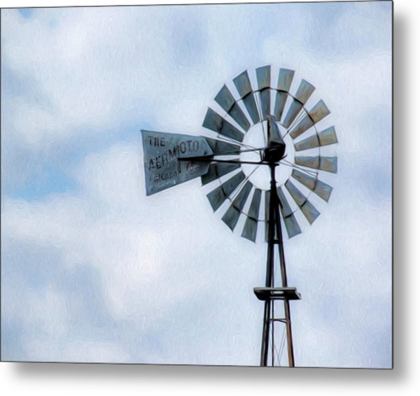 Metal Print featuring the photograph Windmill Art -010 by Rob Graham