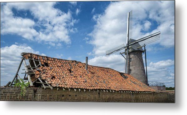 Windmill In Belgium Metal Print
