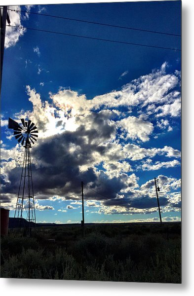 Windmill Lonely Metal Print