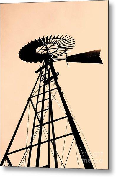 Windmill Standing Tall Metal Print by Christine Belt