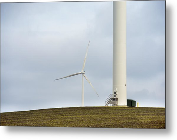 Windmills Great And Small Metal Print