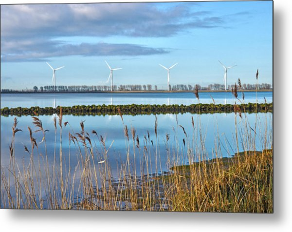 Windmills On A Windless Morning Metal Print