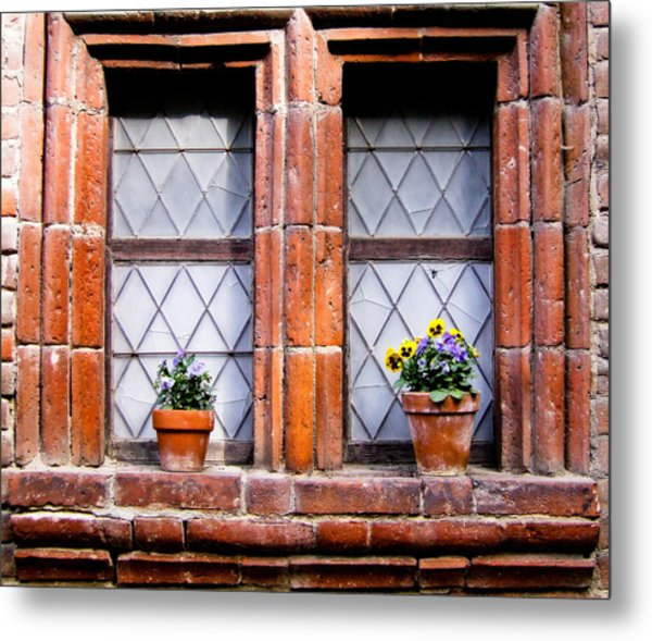 Window And Pots II Metal Print by Carl Jackson