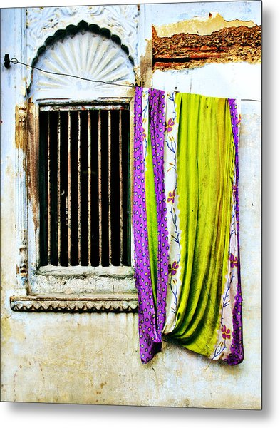 Window And Sari Metal Print by Derek Selander