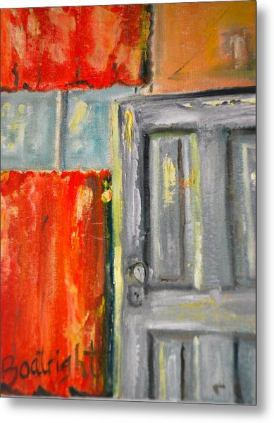Window And The Pantry Door Metal Print by Diane Fiore