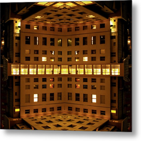 Window Cube Metal Print