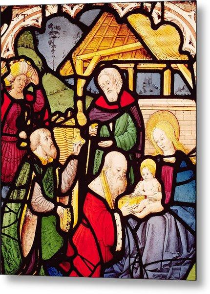 Window Depicting The Adoration Of The Magi Metal Print