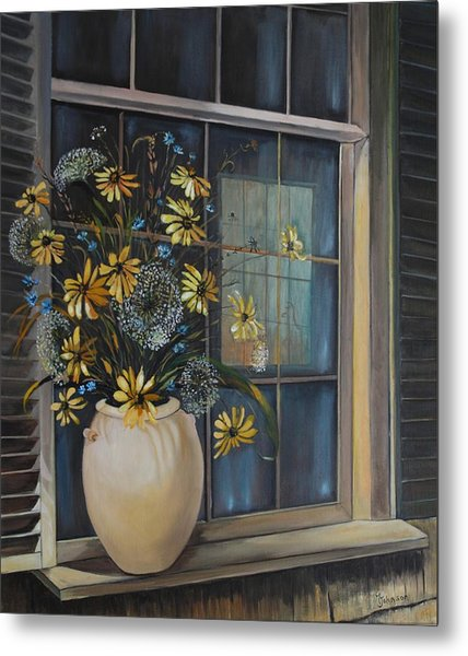 Window Dressing - Lmj Metal Print