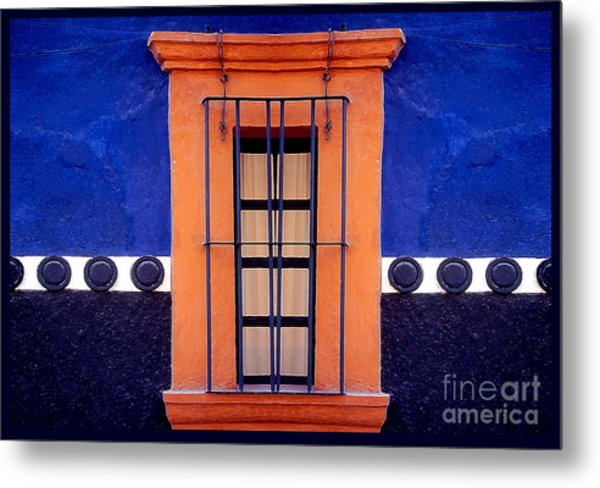 Window In San Miguel De Allende Metal Print by Linda  Parker