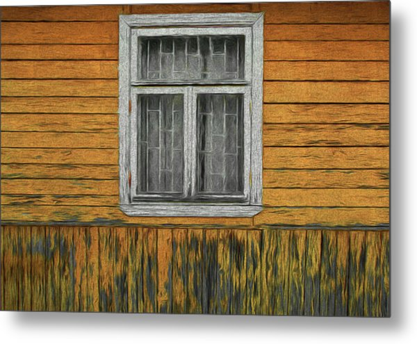 Window In The Old House Metal Print