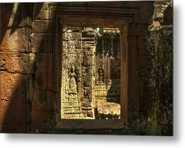 Window Into Angkor Wat Metal Print