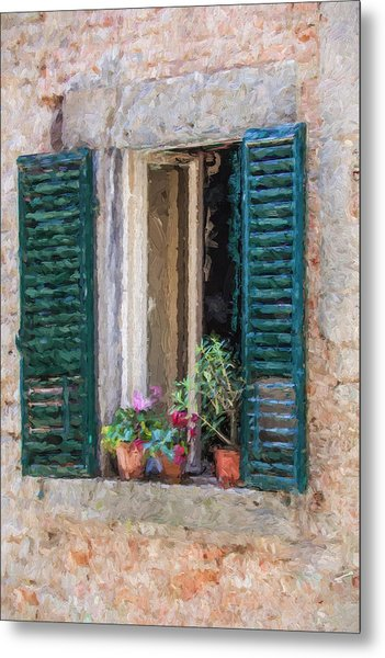 Window Of Cortona Metal Print