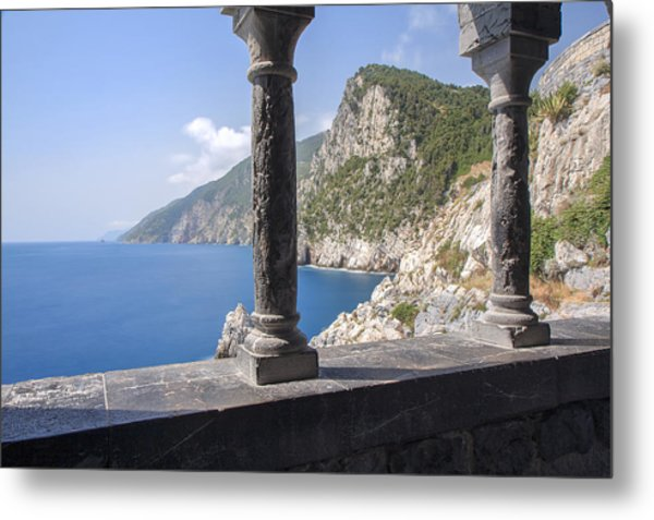 Window On The Sea At Portovenere Metal Print
